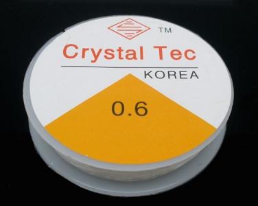 Основа силиконовая эластичная прозрачная 0,6мм, за 10 метров