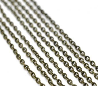 Цепочка бронзовая с текстурой 4,5х3мм, цена за 10см.