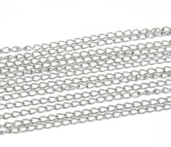 Цепочка металлическая 5,5х3,5мм, цена за 10см.