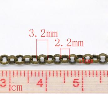 Цепочка бронзовая 3,2мм, цена за 10см.