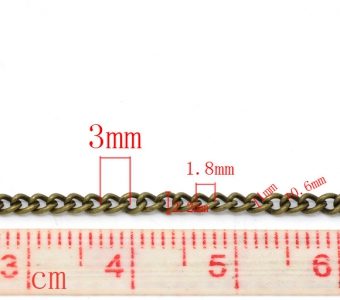 Цепочка бронзовая 3х2,2мм, цена за 10см.