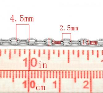 Цепочка металлическая текстурная 4,5х3мм, цена за 10см.