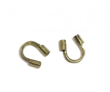 Протектор (защита) для тросика, лески бронзовый (США), 10шт.