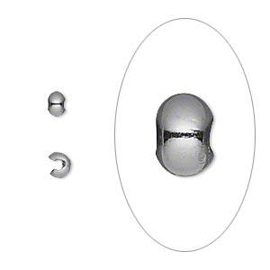 Шапочка для кримпа черненый металл (США), 10шт.