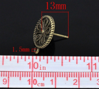 Швензы - гвоздики бронзовые 17х13мм