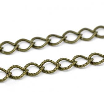Цепочка бронзовая с текстурой 9х7мм, цена за 10см.