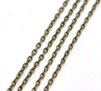 Цепочка бронзовая с текстурой 4х2,5мм, цена за 10см.