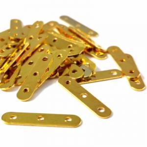 Коннектор золотистый 17*4мм