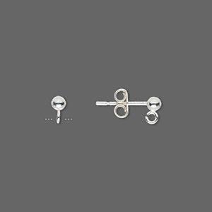 Швензы гвоздики из серебра 925 пробы (США) 3мм