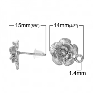 Основы гвоздики металлические 15х12мм с заглушками