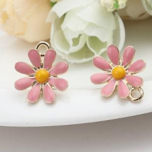 Швензы - гвоздики позолоченные с розовой эмалью