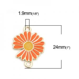 Коннектор позолоченный с эмалью 24х18мм