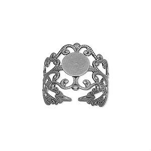 Основа для кольца посеребренная (США)