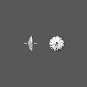 Шапочки посеребренные 7мм (США), 10шт