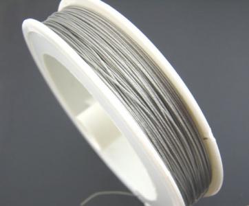 Тросик ювелирный серебристый 0,35мм, 1 катушка 100м