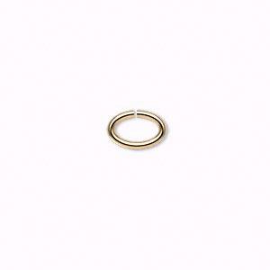 Колечки овальные позолоченные (США) 8*5мм, 10шт.