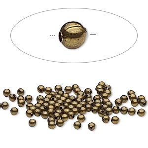 Бусина бронзовая (США) 2,5мм, цена за 20шт.
