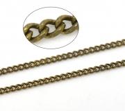 Цепочка бронзовая 1,8х1,3мм, цена за 10см.