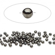 Бусина черненый металл (США) 2,5мм, цена за 10шт.