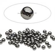 Бусина черненый металл (США) 3мм, цена за 10шт.