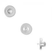 Заглушка гипоалергенная силиконовая (США) 9х5мм, за 1 пару