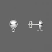 Швензы гвоздики из серебра 925 пробы (США) 7мм