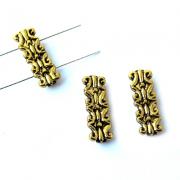 Коннектор двухрядный золотистый 20х7мм