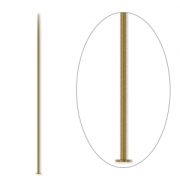 Гвоздики тонкие бижутерные бронзовые (США) 5см, 10шт.