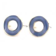 Швензы - гвоздики позолоченные с эмалью 19мм