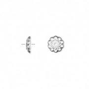 Шапочки посеребренные 8мм (США), 10шт