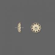 Шапочки позолоченные 8мм (США), 10шт