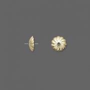 Шапочки позолоченные 7мм (США), 10шт