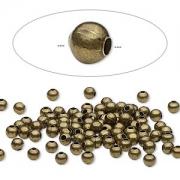 Бусина бронзовая (США) 3мм, цена за 20шт.